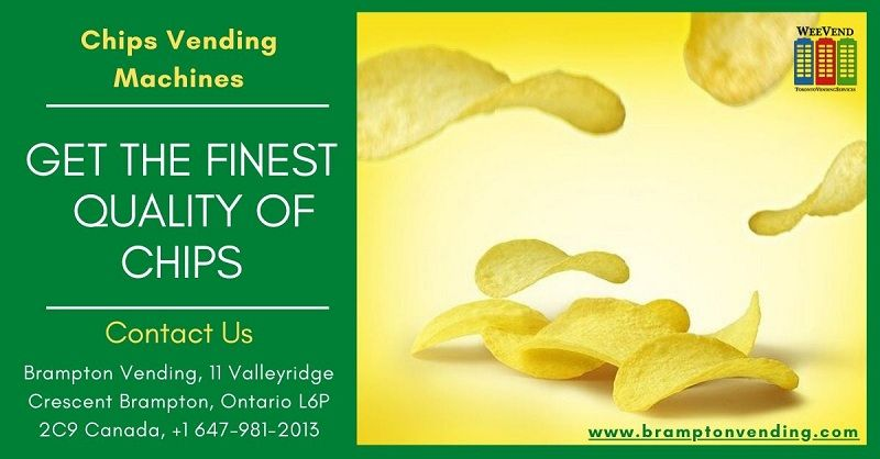 Looking for healthy chips products using chips vending machines