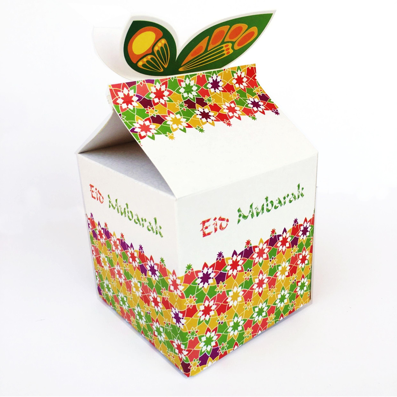 Eid Mubarak gift boxes (6 pcs)   Cupcake Toppers   Bismillah Buddies