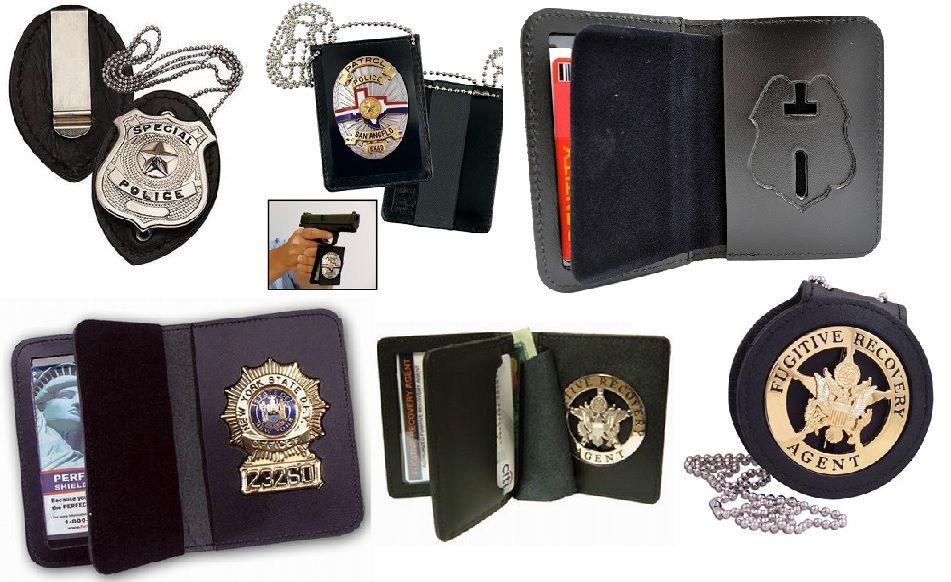 Leather Badge Holder Wallet, Badge Holder Cases, Neck Wallet