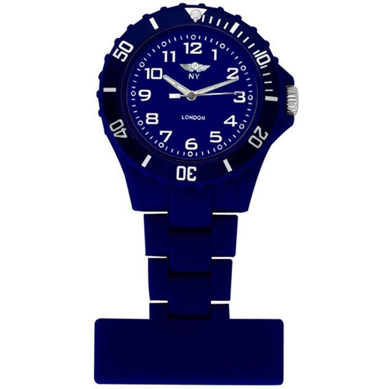 NY LONDON Blue Dial Nurse FOB Watch Dark Blue 3993