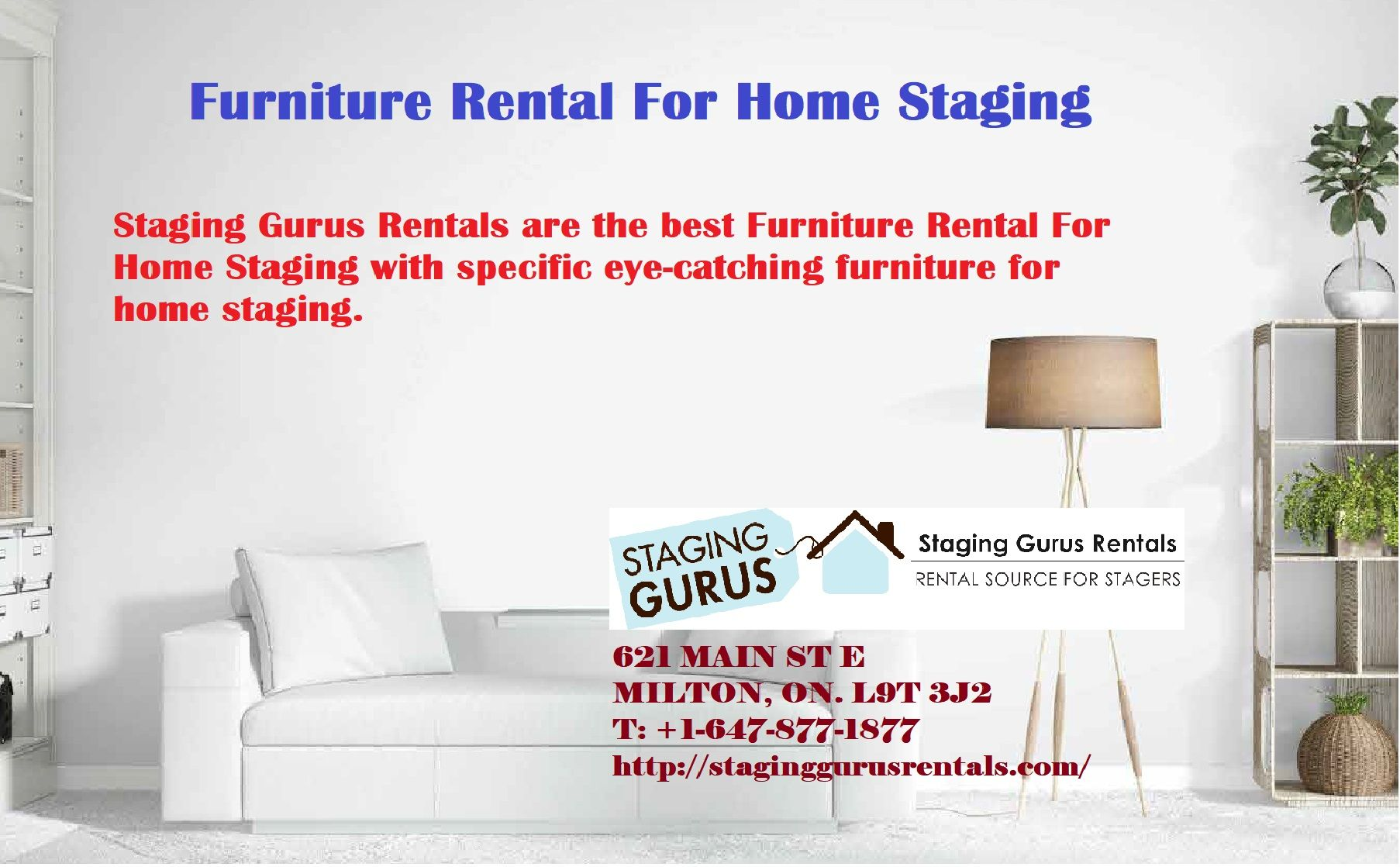 Furniture Rental For Home Staging | Staging Gurus Rental