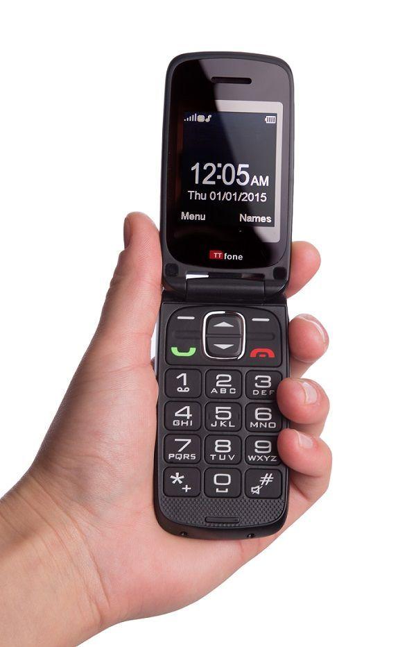 TTfone Star (TT300) Grey Big Button Mobile Phone for the Elderly