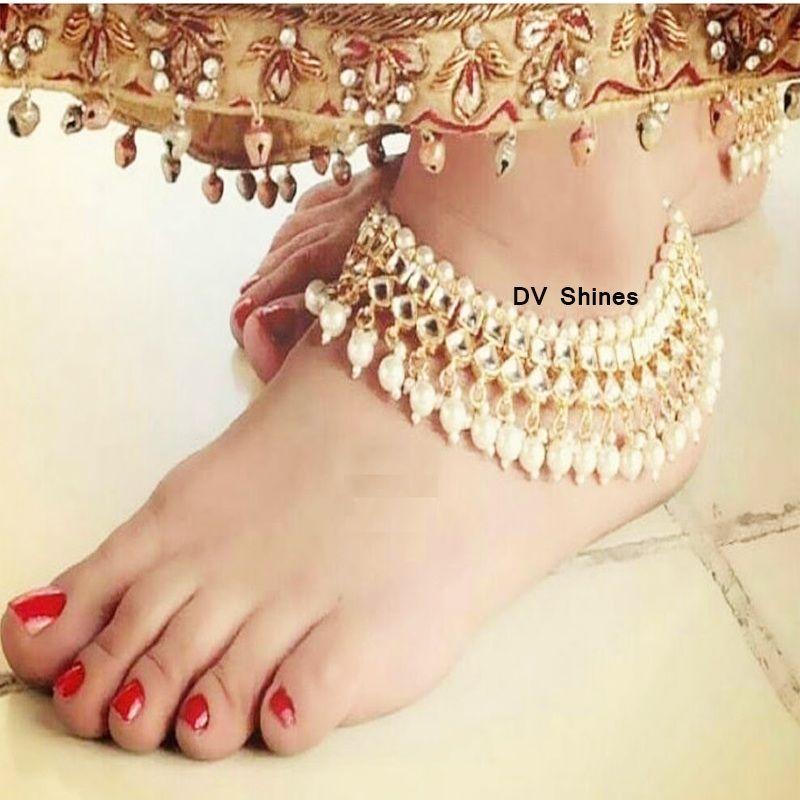 Kundan Anklets