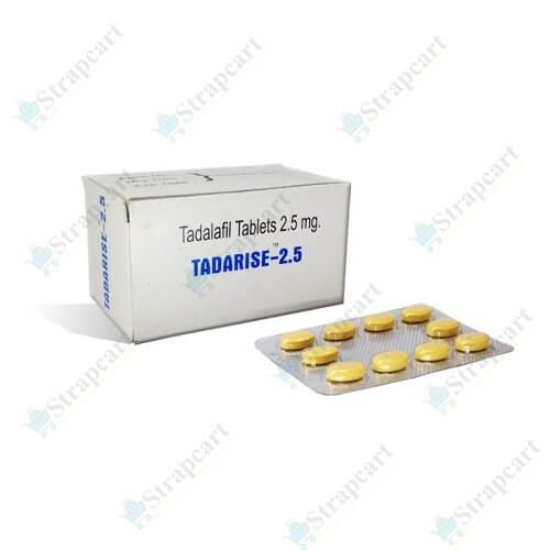 Buy Tadarise 2.5mg Online Reviews, Price, Dosage - Strapcart