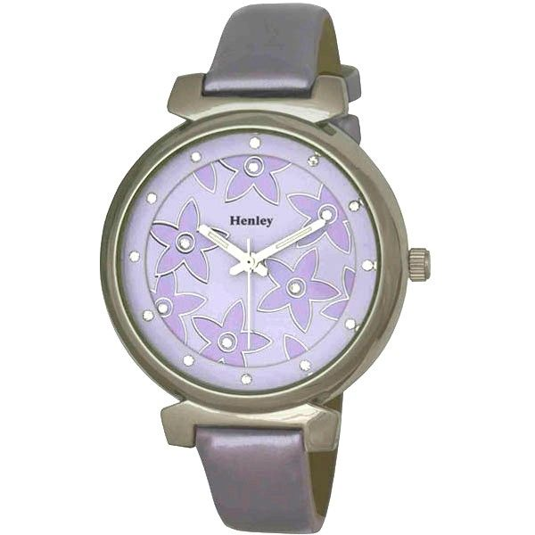 Henley Ladies Fashionable Unique Lilac Two Level Dial H06042.7