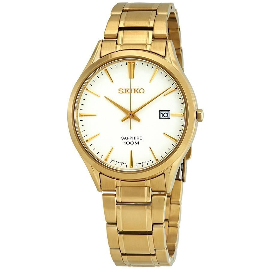 Seiko Men's Sapphire Fashion Gold Bracelet Watch SGEH72P1