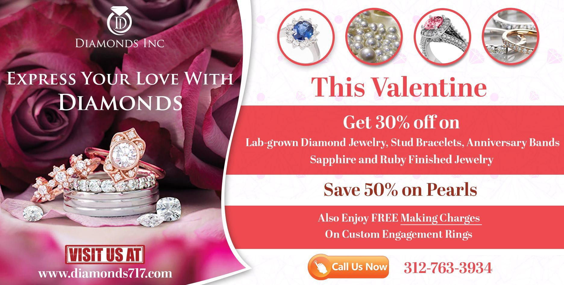 Buy Exciting Diamond Engagement Rings this Valentine
