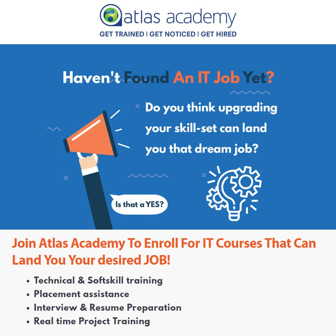 Atlas Academy - Job Oriented IT training in Ahmedabad with Hands on Live Projects