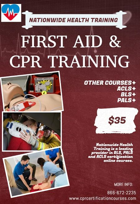 CPR Certification & FIRST AID Courses Online