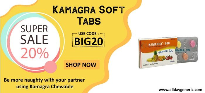 Kamagra Soft Tabs (Sildenafil Chewable) Online for Sale