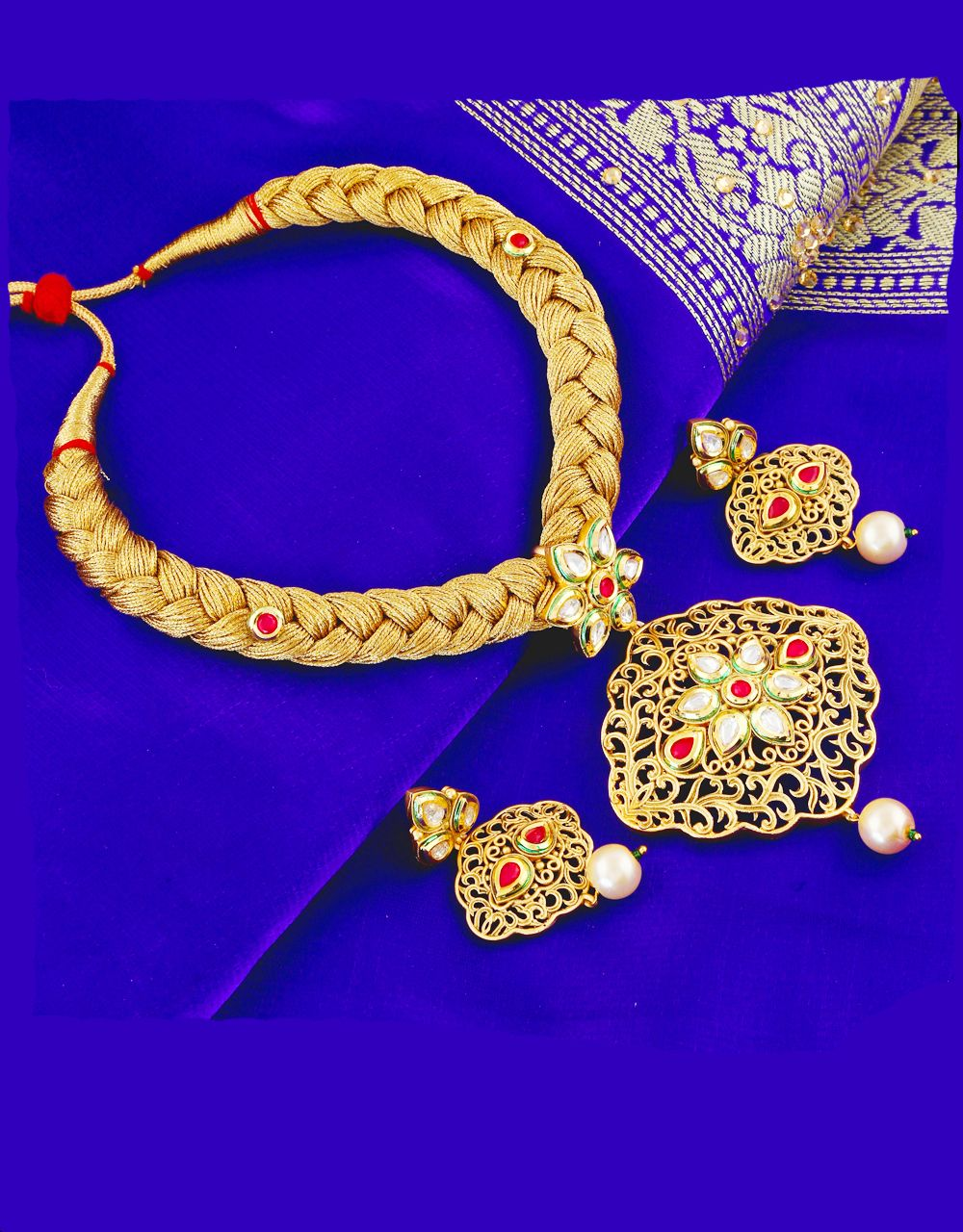 Buy Latest Artificial Kundan Jewellery Collection for Women from Anuradha Art Jewellery at Best Price