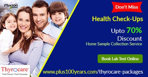 Book Thyrocare Packages online - Don't Miss Up To 70% Discount On All Health Checkup Packages