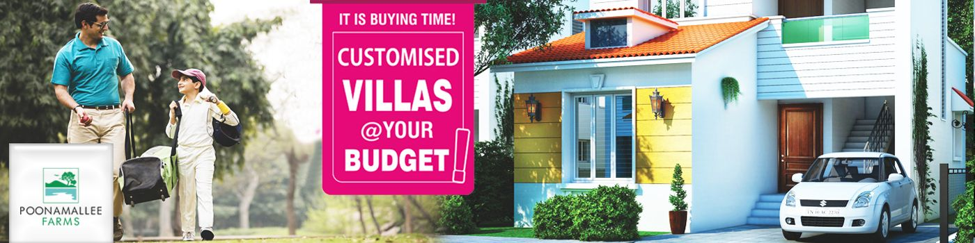 Gated Community Villas for Sales in Poonamallee Chennai Call 90069 90069