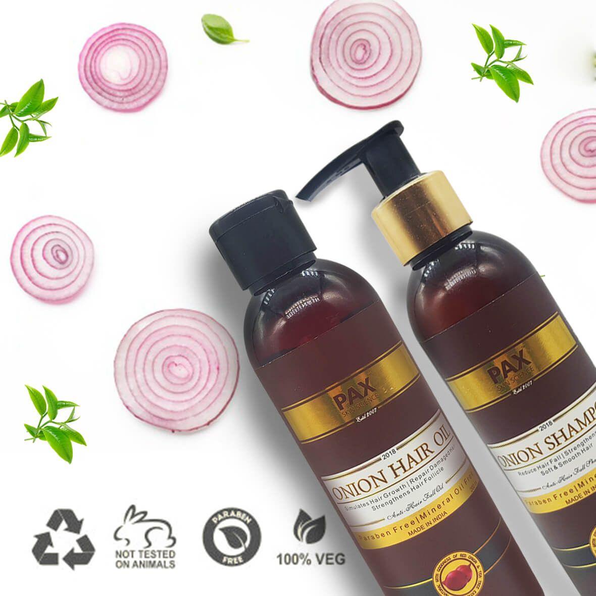 Buy Onion Oil & Shampoo Combo Free Devilry